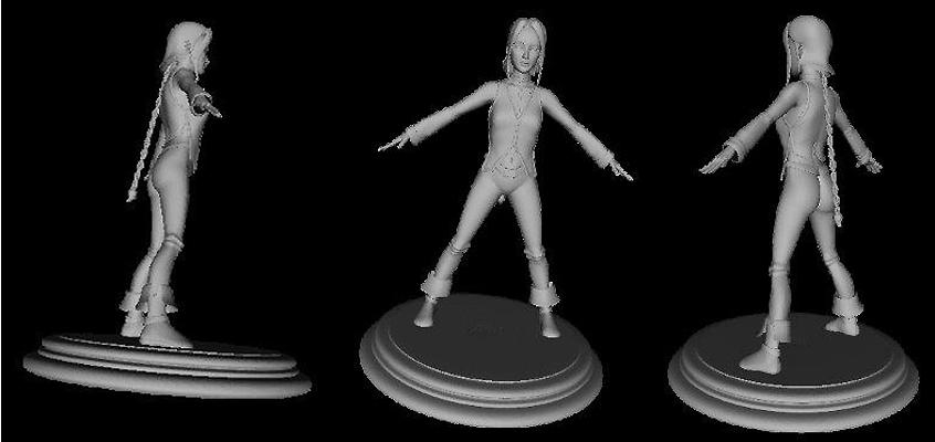 Deuxième ébauche pour la figurine d'Aila