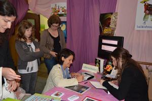 Dédicace de Catherine Boullery au Salon du livre de Sartrouville 2013