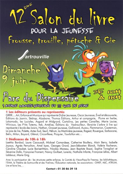 Flyer du Salon du livre de Sartrouville 2013